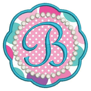Applique Girly Monogram Fonts Machine Embroidery Design Set - Embroidery Designs By AVI