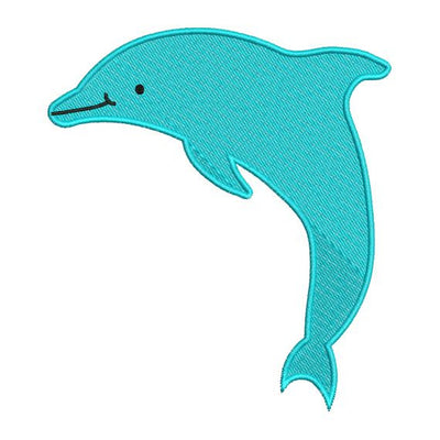 Dolphin Fish Machine Embroidery Design - Embroidery Designs By AVI