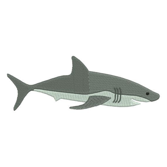 Great White Shark Machine Embroidery Design - Embroidery Designs By AVI