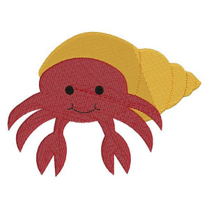 Hermit Crab with fill Machine Embroidery Design - Embroidery Designs By AVI