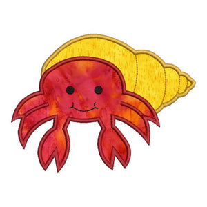 Hermit Crab Applique Machine Embroidery Design - Embroidery Designs By AVI