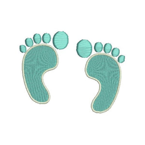 Baby Feet Foot Prints Machine Embroidery Design - Embroidery Designs By AVI