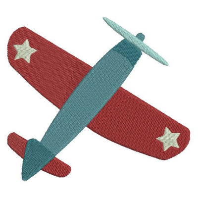 Patriotic Air Plane Airplane Machine Embroidery Design - Embroidery Designs By AVI