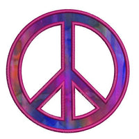 Peace Sign Applique Machine Embroidery Design - Embroidery Designs By AVI