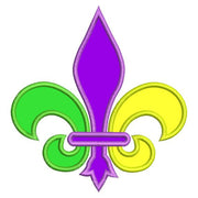 Applique Fleur De Lis Mardi Gras Machine Embroidery Design - Embroidery Designs By AVI