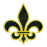 Applique Fleur De Lis 1 Color Machine Embroidery Design - Embroidery Designs By AVI
