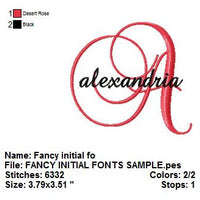 Fancy Satin Script Machine Embroidery Monogram Fonts Designs Set - Embroidery Designs By AVI