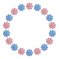 Flower Circle Monogram Font Frame Machine Embroidery Design - Embroidery Designs By AVI