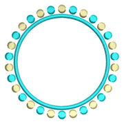Circle of Dots Frame Monogram Font Machine Embroidery Design - Embroidery Designs By AVI