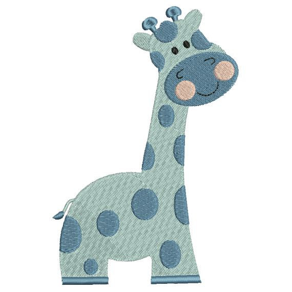 Giraffe Zoo Jungle Machine Embroidery Design - Embroidery Designs By AVI