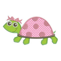 Turtle Girl Applique Machine Embroidery Design - Embroidery Designs By AVI
