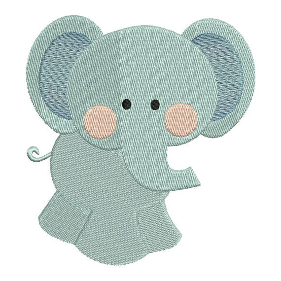 Elephant Zoo Jungle Machine Embroidery Design - Embroidery Designs By AVI