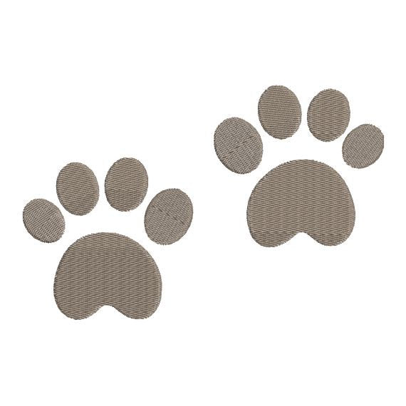 Bear Paw Foot Prints Machine Embroidery Design - Embroidery Designs By AVI