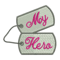 Military Hero Dog Tags Machine Embroidery Design - Embroidery Designs By AVI