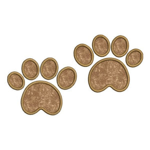 Animal Bear Paw Prints Applique Machine Embroidery Design - Embroidery Designs By AVI