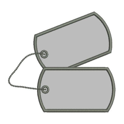 Applique Military Dog Tags Machine Embroidery Design - Embroidery Designs By AVI