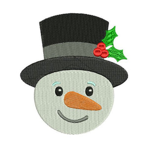 Frosty Snowman Snow Man Christmas Machine Embroidery Design - Embroidery Designs By AVI