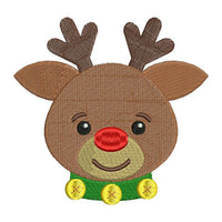 Rudolph Red Nosed Reindeer Christmas Machine Embroidery Design - Embroidery Designs By AVI
