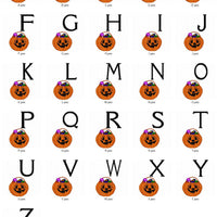 Halloween Pumpkin Jack o Lantern Candy Monogram Fonts Machine Embroidery Designs Set - Embroidery Designs By AVI
