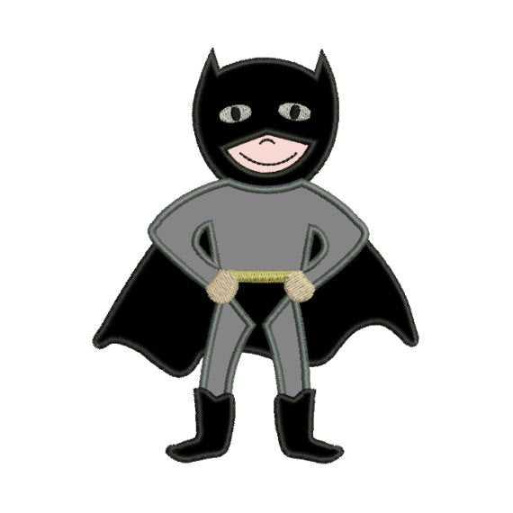 Applique Batman Super Hero Superhero Machine Embroidery Design - Embroidery Designs By AVI