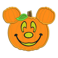 Applique Mickey Mouse Pumpkin Jack o Lantern Machine Embroidery Design - Embroidery Designs By AVI