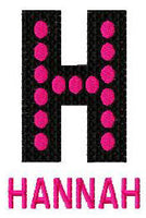 Pop Star Machine Embroidery Monogram Dots Fonts Designs Set - Embroidery Designs By AVI