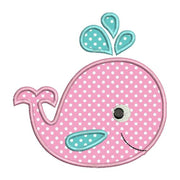 Whale Baby Cute II Applique Machine Embroidery Design - Embroidery Designs By AVI