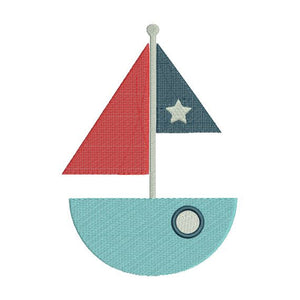 Sailboat Sail Boat Ocean Nautical Machine Embroidery Design - Embroidery Designs By AVI