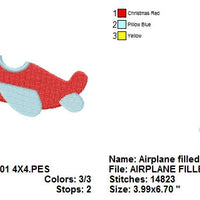 Airplane Air Plane Machine Embroidery Design - Embroidery Designs By AVI