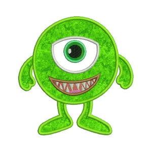 Cute Little Monster Cyclops Applique Machine Embroidery Design - Embroidery Designs By AVI