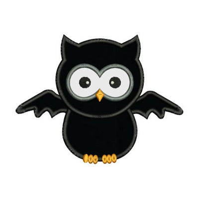 Applique Halloween Owl Bat Machine Embroidery Design - Embroidery Designs By AVI