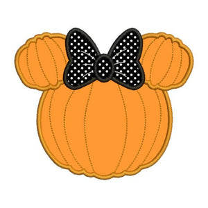 Applique Minnie Mouse Pumpkin Machine Embroidery Designs Font Frame - Embroidery Designs By AVI