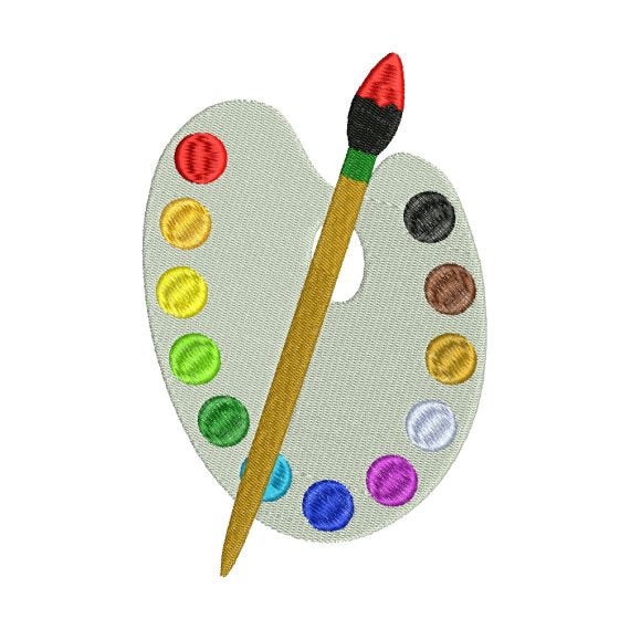 Paint Set Art Class Artist School Fall Teacher Embroidery Design - Embroidery Designs By AVI