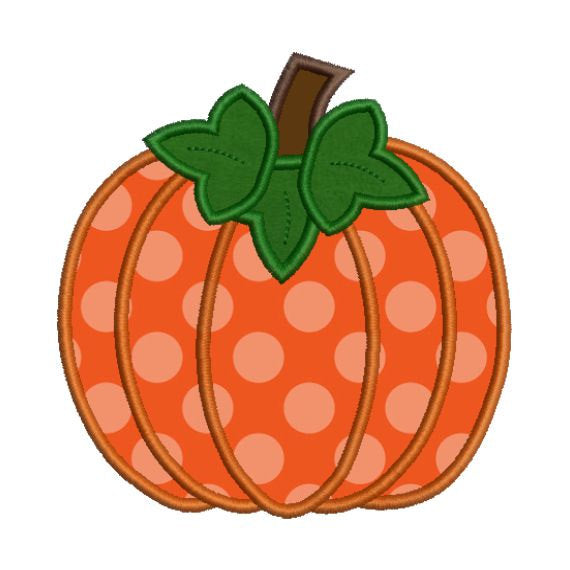 Applique Pumpkin II Fall Autumn Halloween Embroidery Design - Embroidery Designs By AVI
