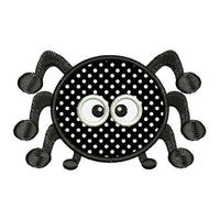 Applique Spider Cute Halloween Machine Embroidery Design - Embroidery Designs By AVI