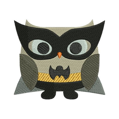 Owl Superhero Batman Halloween Machine Embroidery Design - Embroidery Designs By AVI