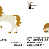 Cute Horse Pony Machine Embroidery Design - Embroidery Designs By AVI