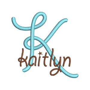 Curly Girl IV Satin Machine Embroidery Monogram Fonts Designs Set - Embroidery Designs By AVI