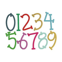 Quirky Birthday Numbers Machine Embroidery Design Font Set - Embroidery Designs By AVI