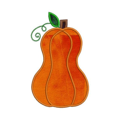 Tall Applique Pumpkin Fall Autumn Halloween Embroidery Design - Embroidery Designs By AVI
