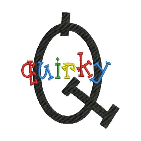Quirky Fun Children Monogram Fonts Machine Embroidery Design Set - Embroidery Designs By AVI