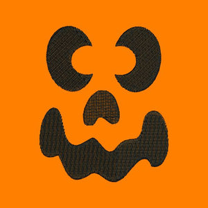Spooked Jack O Lantern Pumpkin Face II Halloween Embroidery Design - Embroidery Designs By AVI