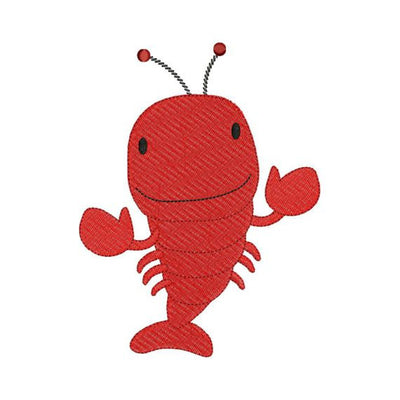 Lobster Filled Machine Embroidery Design - Embroidery Designs By AVI