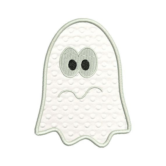 Scared Ghost Halloween Applique Machine Embroidery Design - Embroidery Designs By AVI