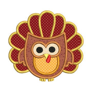 Turkey Owl Applique Machine Embroidery Design Thanksgiving Fall Design - Embroidery Designs By AVI