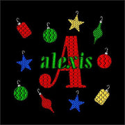 Christmas Ornaments Machine Embroidery Monogram Font Design Set - Embroidery Designs By AVI