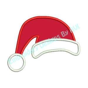 Applique Santa Claus Hat Christmas Machine Embroidery Design - Embroidery Designs By AVI