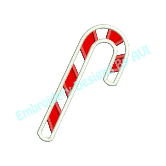 Candy Cane Applique II Christmas Machine Embroidery Design - Embroidery Designs By AVI