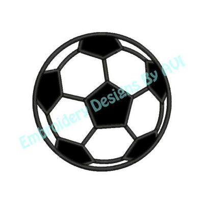 Soccer Ball Applique Sports Machine Embroidery Design - Embroidery Designs By AVI