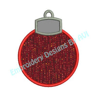 Christmas Ornament Ball Applique Machine Embroidery Design - Embroidery Designs By AVI